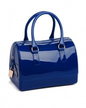 mavi metal fermuarlı pvc silikon çanta sk6875