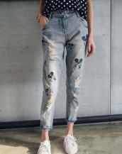 mickey mouse yüksek bel denim jean pantolon sk7522