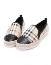 siyah damalı beyaz tabanlı espadril ayakkabı sk6937