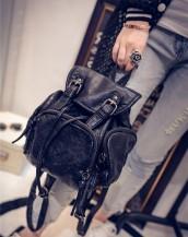 siyah deri küçük sırt çantası sk5838