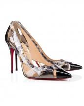 siyah yüksek topuklu rugan sandalet sk6258