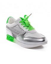 yeşil nefes alan yazlık rahat spor ayakkabı sk6961