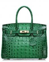 yeşil timsah desenli tote çanta sk7125