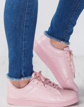 bağcıklı yazlık pembe spor ayakkabı 2016 sk9164