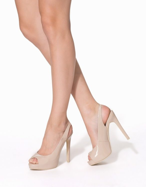 bej rengi platform yüksek topuklu sandalet sk9074