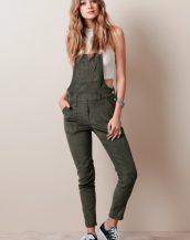 haki yeşil bahçıvan tipi tulum pantolon sk9898