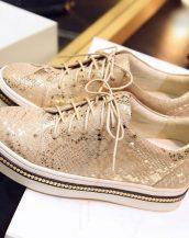 hakiki deri altın oxford ayakkabı sk9780