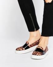 leopar desenli sneakers günlük bez ayakkabı sk8875