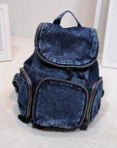 mavi kot denim bayan sırt çantası sk10436