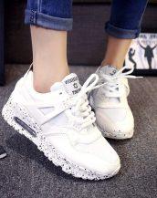 rahat beyaz bayan spor ayakkabı sk10127