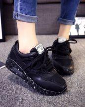 rahat siyah bayan spor ayakkabı sk10127