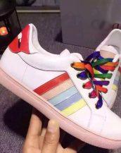 renkli bağcıklı bayan spor ayakkabı sk10115