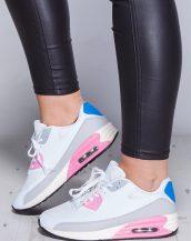 renkli desenli beyaz air spor ayakkabı sk9666