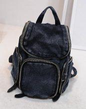 siyah kot denim bayan sırt çantası sk10436