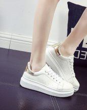 sk10240 altın dore rengi bayan spor ayakkabısı
