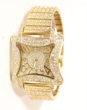 swarovski taşlı altın kelebek kol saati sk9811