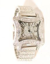 swarovski taşlı gümüş kelebek kol saati sk9811