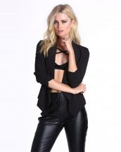 yazlık siyah blazer ceket sk9692