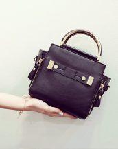 altın saplı siyah omuz çantası sk11359