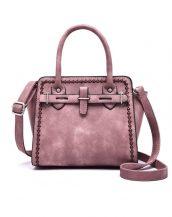 gül kurusu rengi trapez kol çantası sk11411