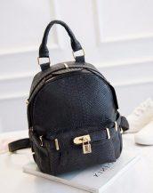 kilit detaylı siyah bayan sırt çantası sk11227
