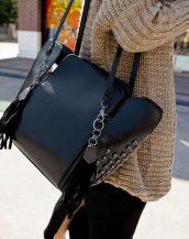kuru kafa punk tasarım siyah çanta sk11620