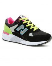 nubuk bayan siyah spor koşu ayakkabısı sk11546