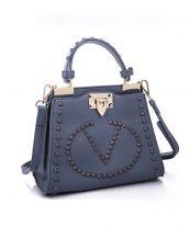 renkli zımbalı marka lacivert kol çantası sk10876
