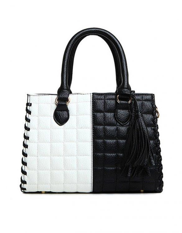 siyah beyaz kol çantası