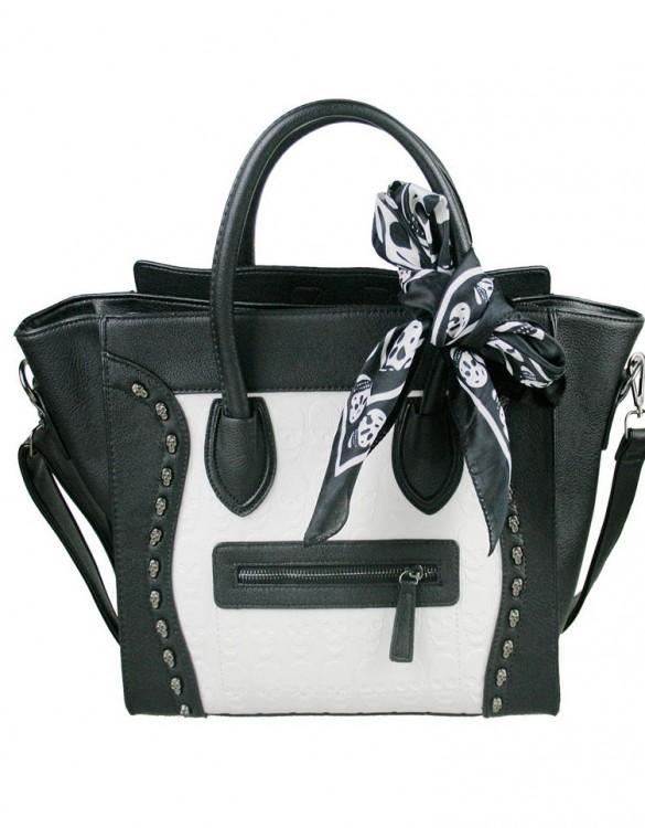 siyah beyaz trapeze çanta
