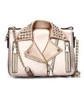 özel tasarım zımbalı bronz ceket çanta sk12447