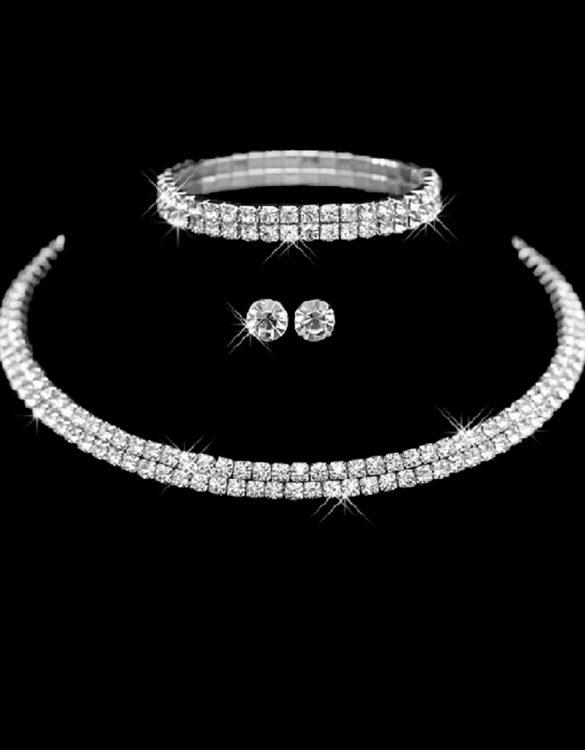 gümüş taşlı takı seti sk12828