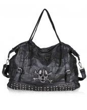 kuru kafa zımbalı siyah deri çanta sk12962