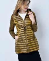 altın rengi şişme puf bayan ceket sk14441