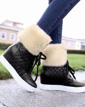 sk14331 siyah tarz kışlık sneaker