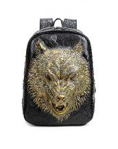 altın kurt tarz siyah sırt çantası sk16161