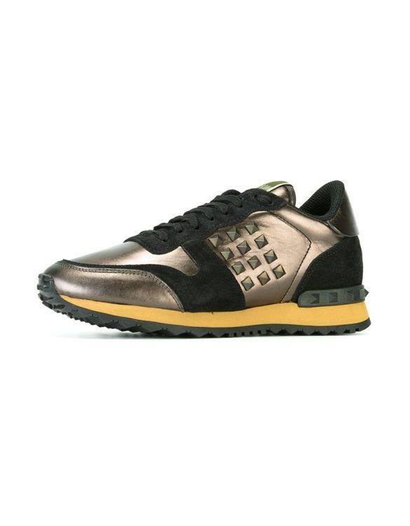 bronz valentino rockstud sneaker skl15615