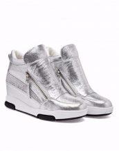 gümüş zımba detaylı gizli topuk sneaker sk15934