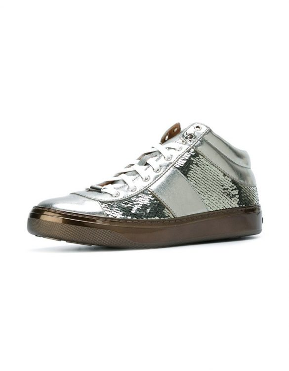 jimmy choo bells gümüş sneaker skl15687