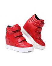 kırmızı bantlı gizli topuk sneaker sk16414
