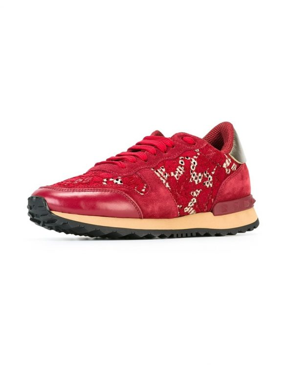 kırmızı valentino rockrunner sneakers sk15016
