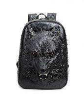 kurt detaylı siyah sırt çantası sk16161