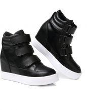 siyah bantlı gizli topuk sneaker sk16414