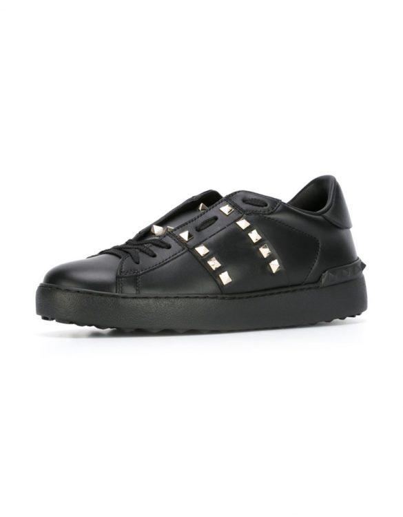 siyah valentino rockstud sneaker skl15587
