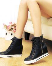 sk15947 siyah deri converse sneaker