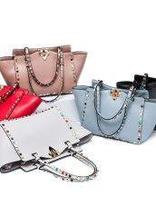 sk16375 renkli zımbalı çanta