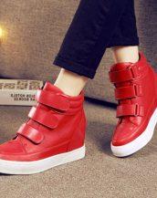 sk16414 kırmızı bantlı deri sneaker