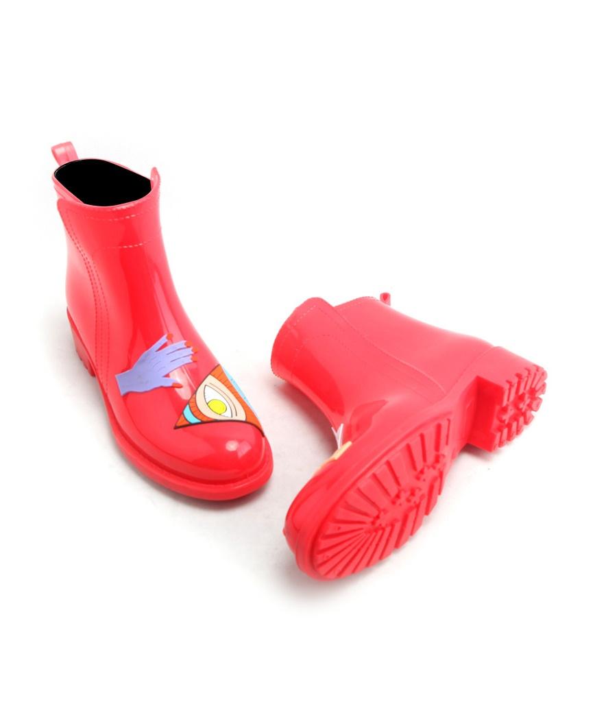 tasarım kırmızı yağmur çizmesi sk14851