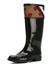 burberry kalpli siyah yağmur çizmesi skl17749