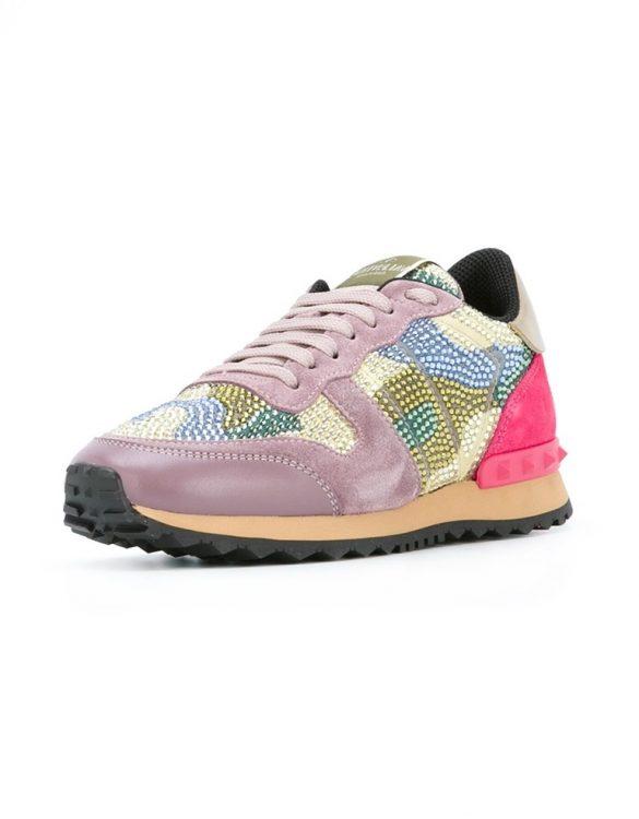 valentino rockrunner renkli boncuk işlemeli sneaker skl17588